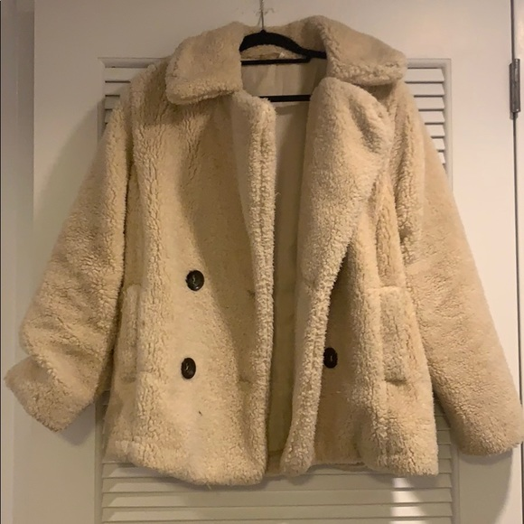 48680040d Free People Teddy Bear coat
